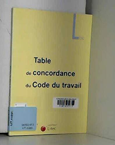 Table De Concordance Code Du Travail