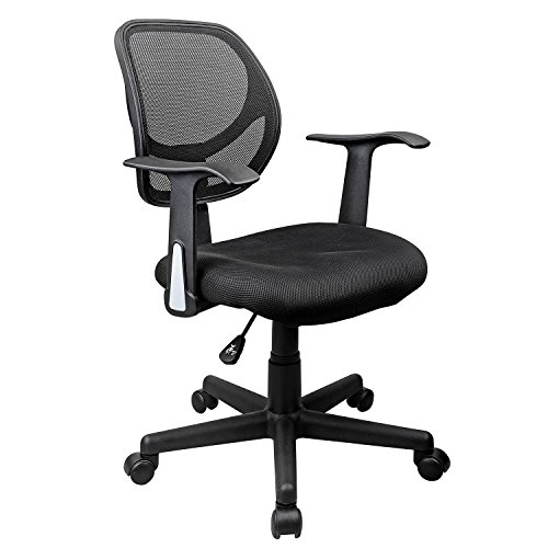 Swivel Leather Racing Style High-back Executive Office Chair with Armrests