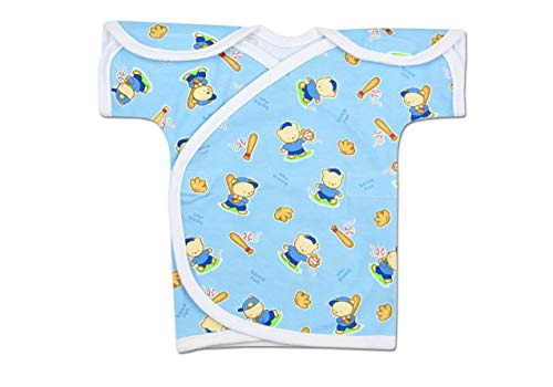 Perfectly Preemie NIC-IV Shirt - NICU Approved (Baseball Bear, Teeny (2-4lbs))