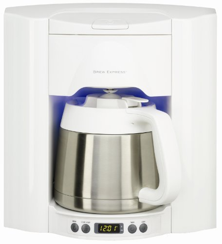Brew Express BE-110WW 10-Cup Built-in Coffee System, White by Brew Express