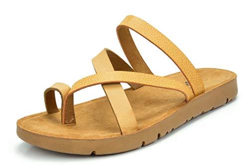 DREAM PAIRS Women's GREEK-03 Nude Platform Wedge Flat Sandals - 5 M US ()
