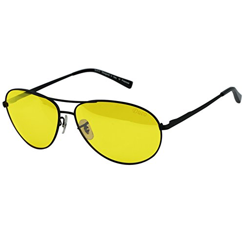 Duco Yellow Night-vision Glasses Anti-glare Driving Eyewear HD Sunglasses - Polarized Through See Can Lenses You