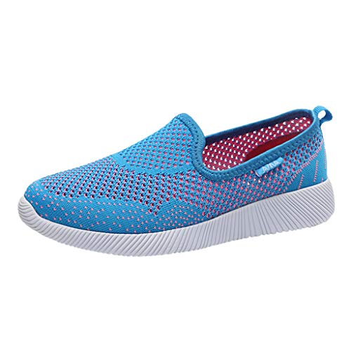 Goddessvan Women's Lightweight Walking Athletic Shoes Breathable Mesh Sneakers Casual Running Shoes Blue