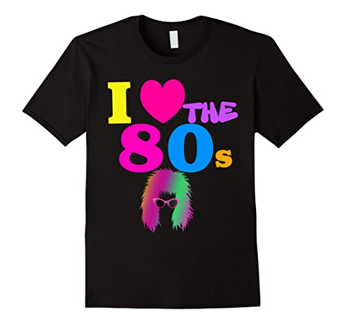 Mens I Love the 80s Colorful T-shirt. Choice of Colors - S to 3XL