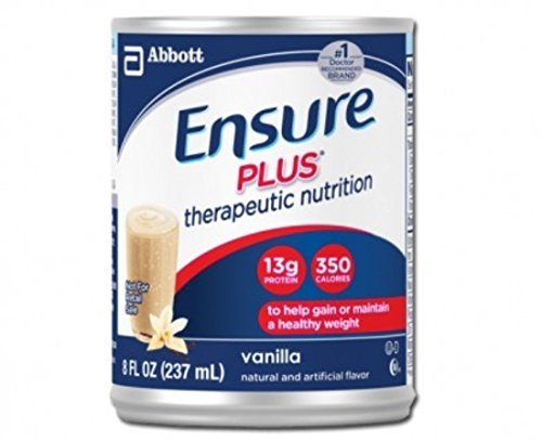 Ensure Plus Nutritional Supplements - 8 oz cans - Flavor Vanilla - Case of 24 (Ensure Plus Cans compare prices)