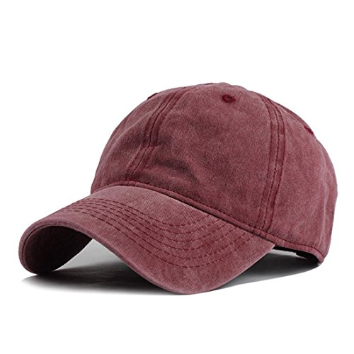 HH HOFNEN Unisex Twill Cotton Baseball Cap Vintage Adjustable Dad Hat (Soft Baseball Cap)