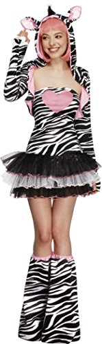 Zebra Sexy Costumes (Fever Zebra Costume, Black/White/Pink, Large)