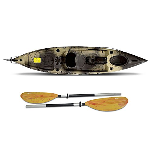 Fishing Kayaks Escape Angler Sit-On-Top Flat water ocean with paddle 12′ ft Camo