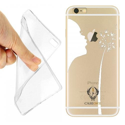 Caseone linea top CUSTODIA COVER CASE CASEONE SOFFIO DENTE LEONE PER IPHONE 6 TRASPARENTE