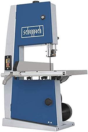 SCHEPPACH Basa 1, Sierra de Cinta Eléctrica con Guía de Precisión y Fácil Inclinación hasta 45º, 880 rpm y 300W de Potencia, Azul