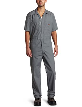 Dickies 33999GY L-SH Gray Large Short Coveralls
