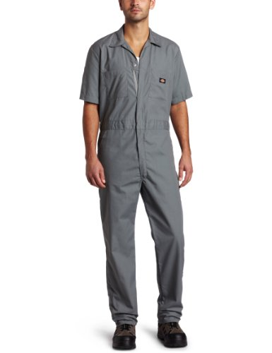 Dickies Men's Big-Tall Short Sleeve Coverall, Gray, 4X/Tall ()