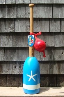 Buoy Bat - Light Blue Body with White Starfish made in Maine