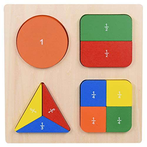 GHIFANT Shape Sorter Board Math Score Learning Puzzles Wooden Toy for Kids Geometric Blocks