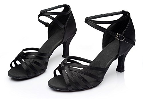 Standard 36 Latein Schuhe Damen Absatz 5cm VESI Schwarz 7cm EqTz7ZZ