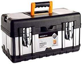 Dong-WW 工具箱 適するのホームアウトドア修復ツールストレージボックス、太いステンレス多機能17インチ(カラー:ブラック、サイズ:40.5 * 18.5 * 18センチメートル)