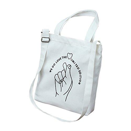 épaule à vent fraîche diagonale sac bandoulière 1 à sac simple et étudiant sac en Fablcrew à Sac provisions collège Sac toile vert bandoulière femme AqF17PxI