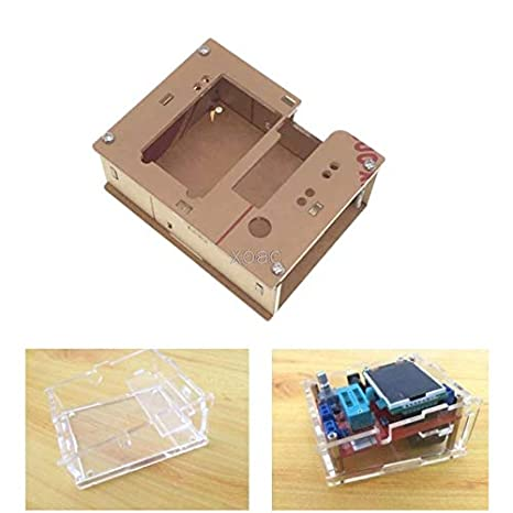 Acrylic Plate Case Acrylic Housing Case Transistor Tester Shell for GM328 Transistor Tester