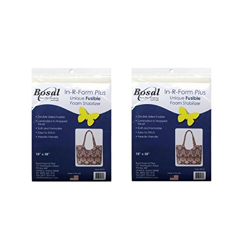 (Bosal 493-18 In-R-Form Double Sided Fusible Foam Stabilizer, 18x58-Inch (2 Pack))
