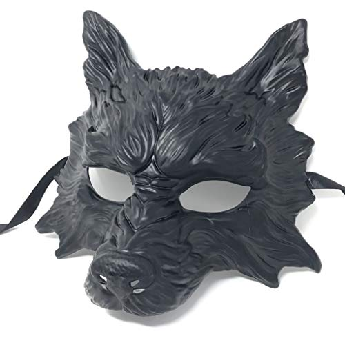 Horror Prom Night Costumes - Storm Buy] Wolf Mask Blank Black