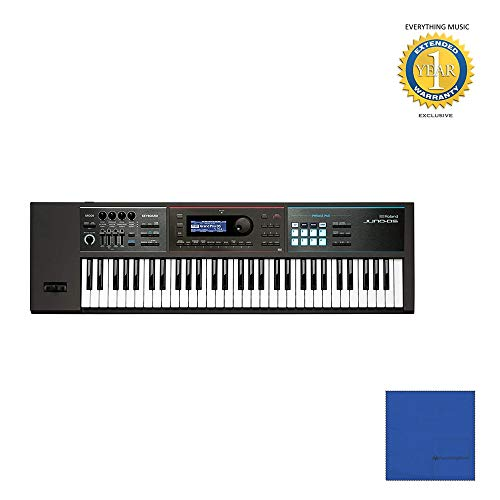 Dedicated Micros Keyboard - Roland JUNO-DS61 Lightweight, 61-note Weighted-action Keyboard with Microfiber and 1 Year Everything Music Extended Warranty