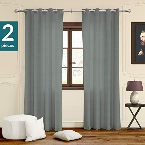 CHICOLOGY Curtain Panels Grommet Top Window Drapes, 52
