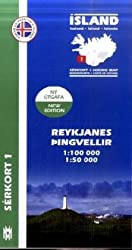 Island Serkort 01 Reykjanes - Pingvellir 1 : 100 000 / 1 : 50 000
