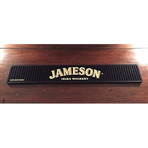 Delicieux Jameson Pub Mat  Black And Tan With Arched Logo
