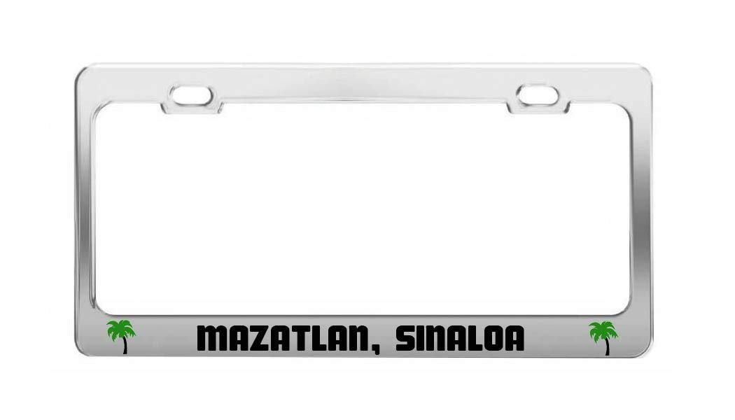 MAZATLAN, SINALOA Mexico Beach Shore Coast Fun Auto License Plate Frame