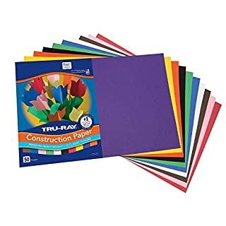 "Tru-Ray Construction Paper, 10 Classic Colors, 12"" x 18"", 50 Sheets"