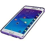 NAUC Samsung Galaxy Note Edge Hülle Silikon Case Schutzhülle aus biegsamen und beständigem TPU mit einer weichen griffigen Oberfläche Tasche Cover Kappe in schwarz, Farben:Lila