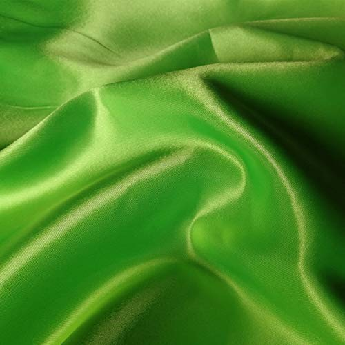 60 inch Stretch Satin Fabric Bridal Material Bolt by The 5 Yard (Fruit Green)
