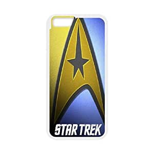 Pattern Hard Case Cover iPhone 6 4.7 Inch Cell Phone Case White Star Trek Dzsix Back Skin Case Shell