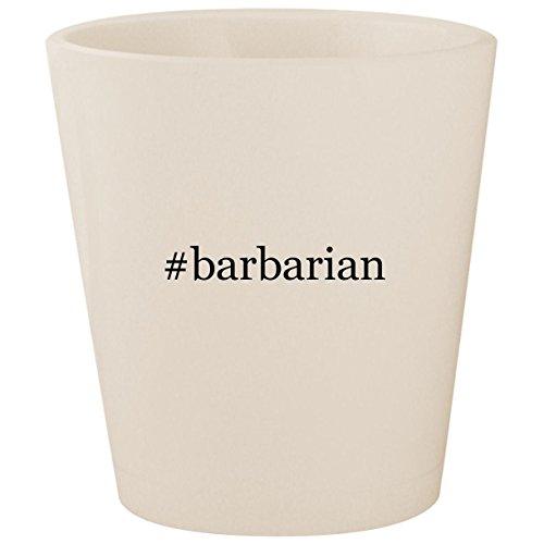#barbarian - White Hashtag Ceramic 1.5oz Shot Glass