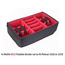 A-Mode Padded divider set to fit Pelican 1510 1535 Cases (NO Case)