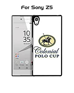 Sony Z5 Funda Case Brand Logo Polo (Polo) Ralph Lauren Plastic Anti Scratch Vintage Drop Proof Customized Compatible with Sony Xperia Z5 (Only For Sony Z5)