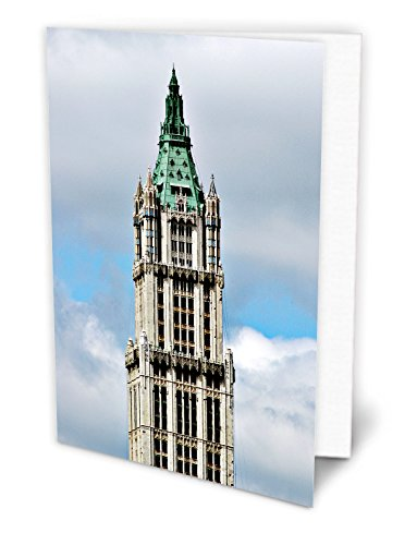 new-york-photo-cards-set-woolworth-building-downtown-set-of-6-5x7-inch-sized-envelopes-included