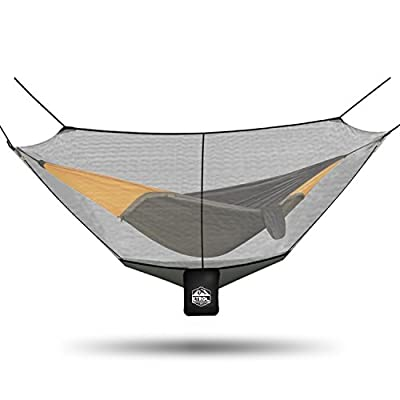 ETROL 2018 UPGRADED Camping Hammock Bug & Mosquito Net - Perfect Mesh Netting Keeps No-See-Ums, Mosquitos and Insects Out - Exclusive Polyester Mesh for 360 Protection - Fits Almost All Hammocks