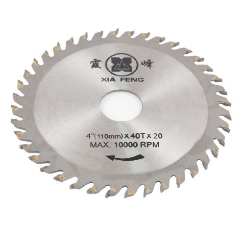 DealMux Red 110mm x 20mm 40T disco de la rueda fresas sierra cortador DLM-B008999PFK