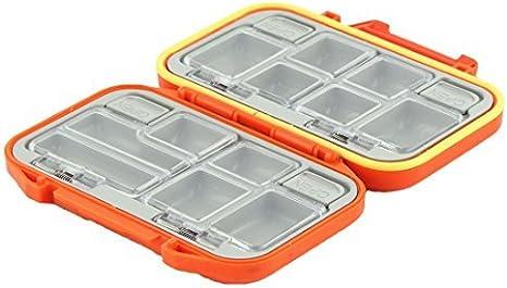 DealMux Pescador plástico 12 Compartimentos Gancho Bait Caixa de armazenamento Titular Caso Laranja: Amazon.es: Deportes y aire libre