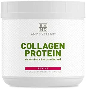 Collagen Peptides Protein Powder Unflavored by Dr. Amy Myers (16 oz) - Grass-Fed Hydrolyzed Collagen Powder, Non-GMO, Gluten Free, Keto Supplement - Supports Hair, Skin, Nails, Bone & Joint Health