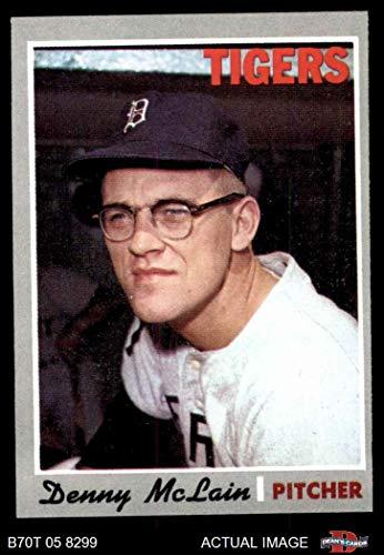 Denny Mclain Detroit Tigers (1970 Topps # 400 Denny McLain Detroit Tigers (Baseball Card) Dean's Cards 6 - EX/MT Tigers)