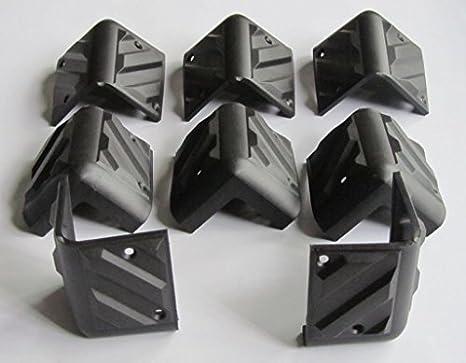 Guitar Amplifier Protector Corner Speaker Cabinet Corners, 8 Pcs Plastic  Black