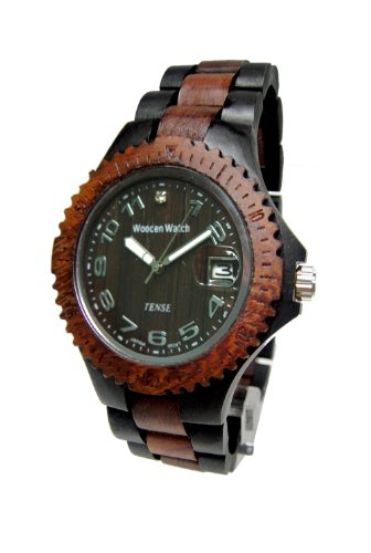 Tense Sandalwood Two Tone Wood Watch Ladies L4100DS ANDF by Tense Wood Watches