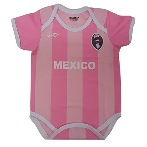 Mexico Soccer Baby Onesie Mameluco Romper Outfit Copa America Centenario 2016 (Pink)