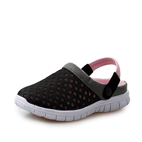 Huecas Men Net Sandalias Women Mules Zuecos Para Interior Zapatos Casual Exterior On Dogeek Chancletas Transpirable Slippers E Slip Jardín Rose De Malla 5XaxdqBw