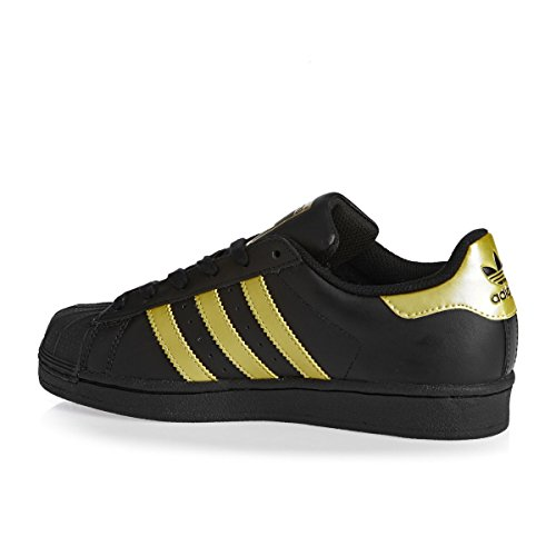 Adidas Originals Unisex-barn Superstjerne FunDamet Sneakers Sort asaVZb
