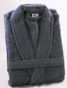 Wolsey Morley Grey Towelling Mens Dressing Gown Towelling Robe -  Small Medium (38 07d8b3360d7f