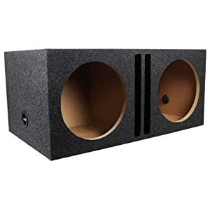 "Rockville RDVB12 Dual 12"" 1.75 cu.ft. MDF Vented/Ported Subwoofer Enclosure Box"