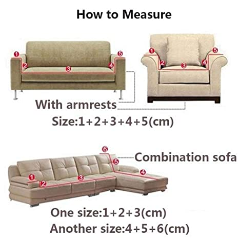 1//4Seater Sofa Couch Fleece Slipcover Stretch Waterproof Cover Settee Protector